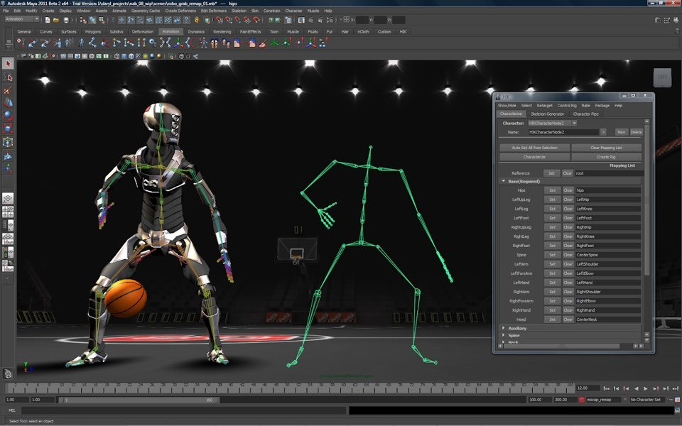 2D and 3D Animation and Character Modeling